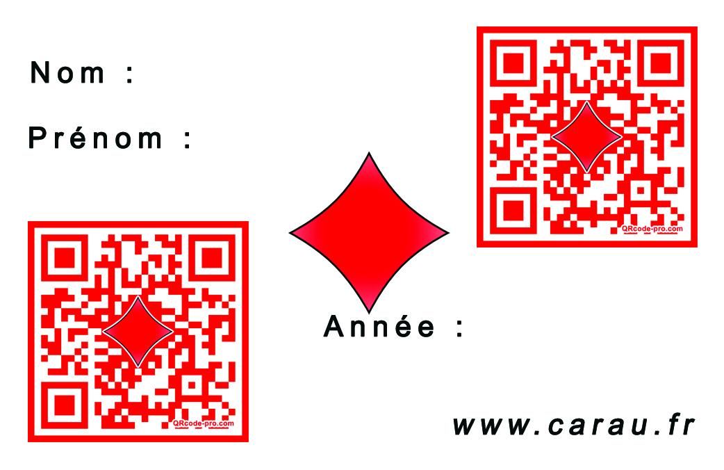Carte verso code QR personnalisé